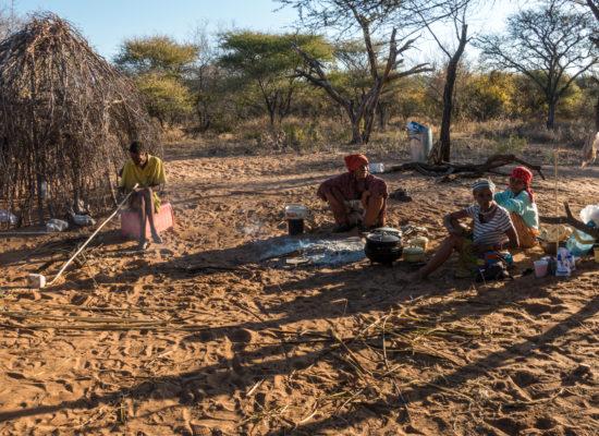 Lokale inwoners Botswana Village