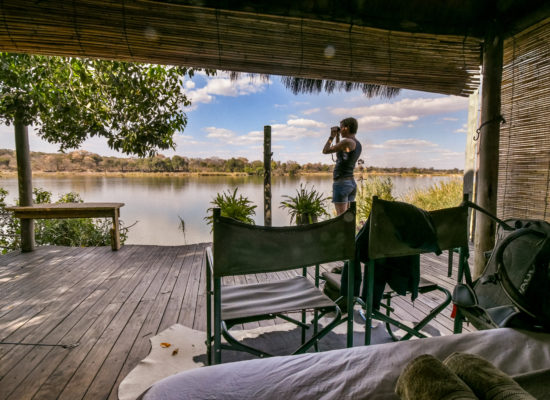Uitzicht vanuit lodge Namibië