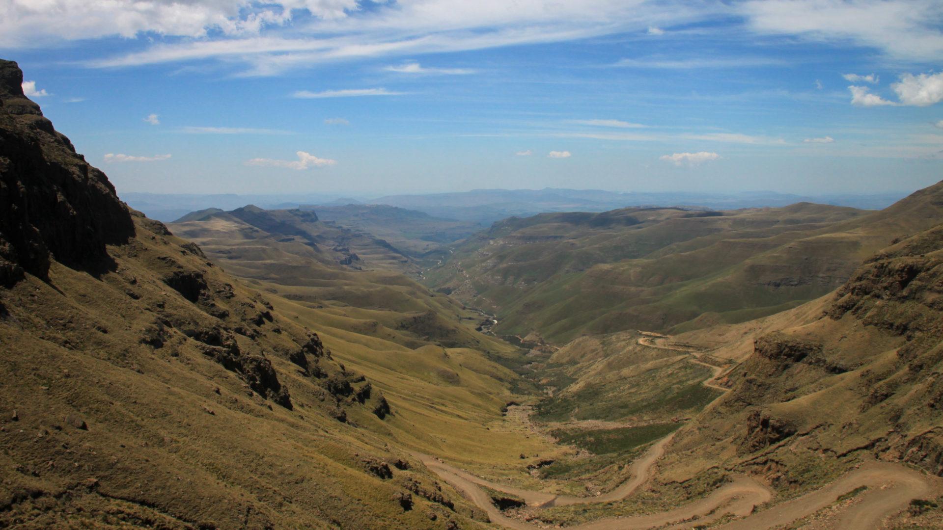 De Sani Pass, tussen Zuid-Afrika en Lesotho