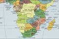 Kaart van Zuidelijk Afrika klein